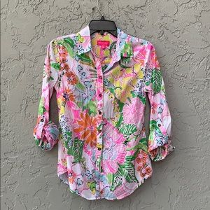 Lilly Pulitzer for Target button down top XS